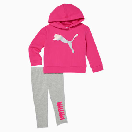 Infant + Toddler Fleece Hoodie + Legging Set, GLOWING PINK, small