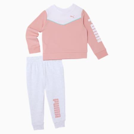 Fleece Crewneck Sweatshirt + Jogger Toddler Set, BRIDAL ROSE, small