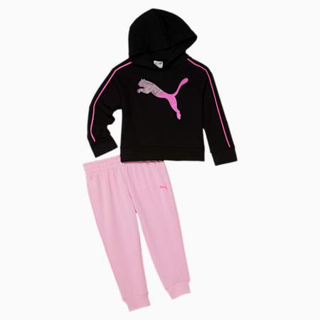 Fleece Hoodie + Jogger Toddler Set, PUMA BLACK, small