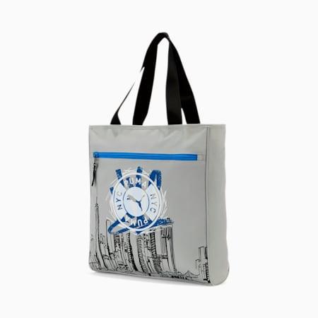 PUMA Metro Tote Bag, GREY/BLACK, small