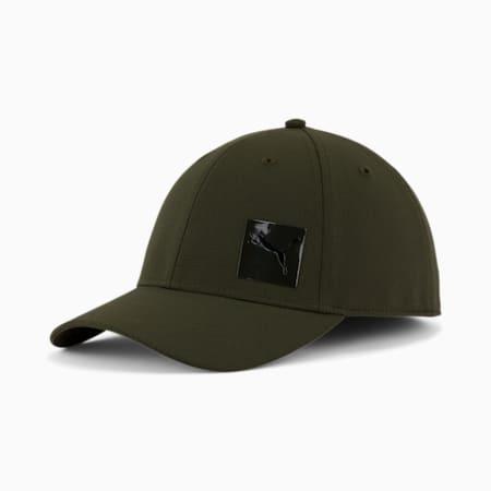 PUMA Decimal 2.0 Stretch Fit Cap, Dark Green, small