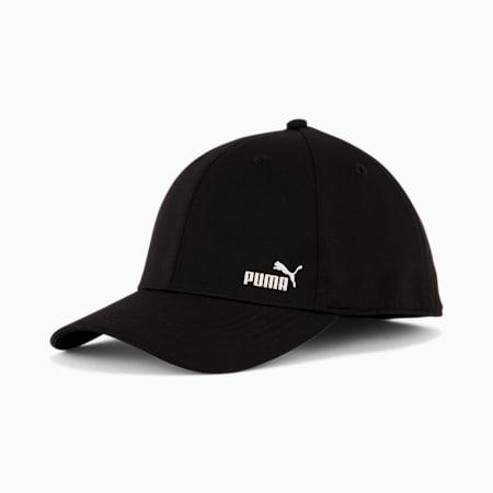 PUMA Force 2.0 Stretch Fit Cap, Black/White, small
