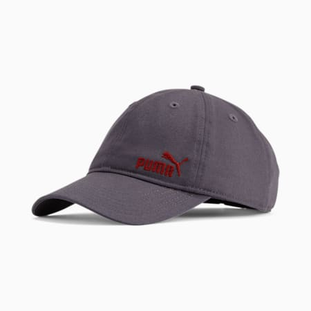 PUMA Stage Kids' Adjustable Cap, Grey/Red, small