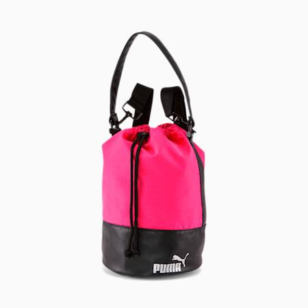 PUMA Convertible Bucket Bag, Pink/Black, small