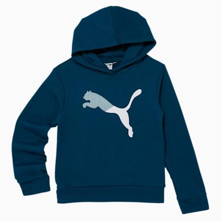 Sudadera de polar con capucha Modern Sports para niñas pequeñas, DIGI BLUE, pequeño
