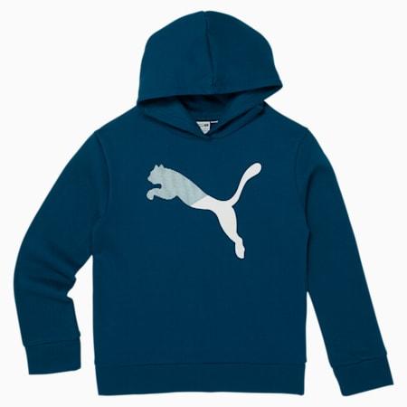 Modern Sports Girls' Fleece Hoodie, DIGI BLUE, small