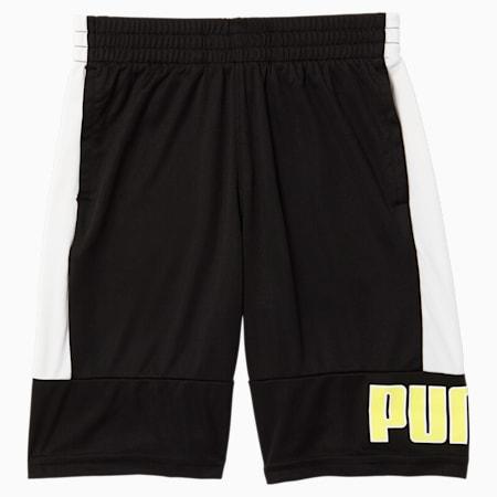Short interlock en tricot de polyester Rebel Pack, NOIR PUMA, petit