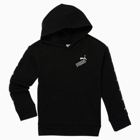 Sudadera  con capucha de polar Amplified para niños pequeños, PUMA BLACK, pequeño
