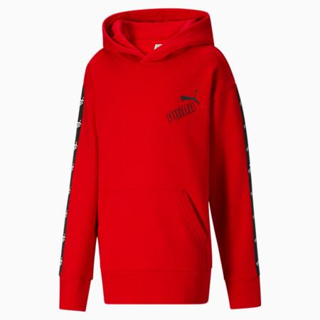 Sudadera con capucha de polar Amplified para niños, HIGH RISK RED, pequeño