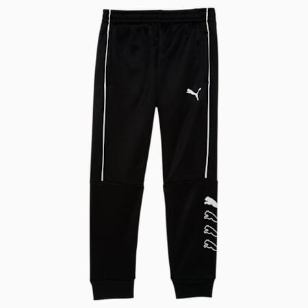 Pantalones de polar para correr para niñas, PUMA BLACK, pequeño