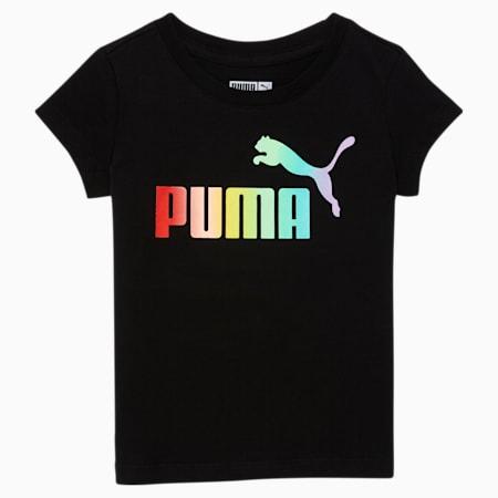 Camiseta estampada con logo N° 1 para bebés, PUMA BLACK, pequeño