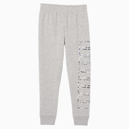 Pantalones de polar para correr para niñas, LIGHT HEATHER GREY, pequeño