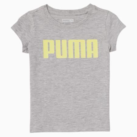 Camiseta estampada para bebés, LIGHT HEATHER GREY, pequeño