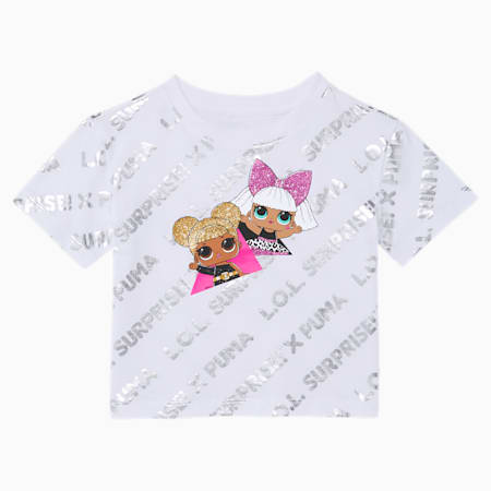 PUMA x L.O.L. SURPRISE! Toddler Metallic Fashion Tee, PUMA WHITE, small