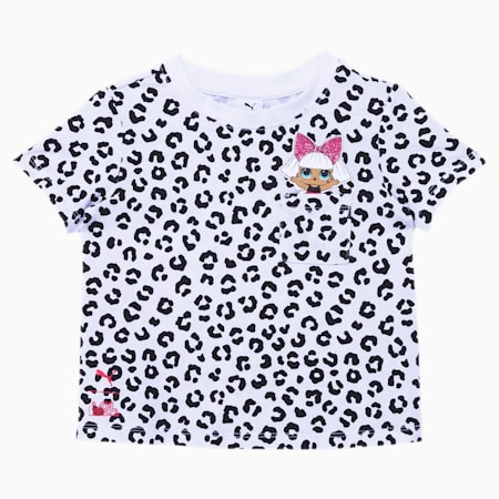 PUMA x L.O.L. SURPRISE! Toddler Leopard Fashion Tee, PUMA WHITE, small