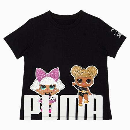 PUMA x L.O.L. SURPRISE! Little Kids' Bold Fashion Tee, PUMA BLACK, small