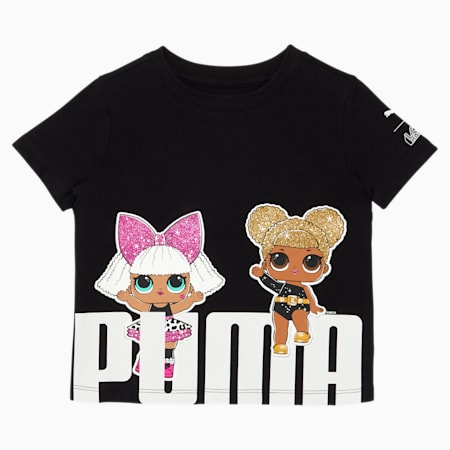 PUMA x L.O.L. SURPRISE! Toddler Bold Fashion Tee, PUMA BLACK, small