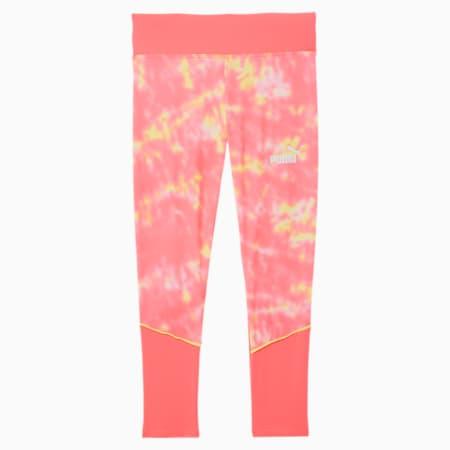 No.1 Logo Girls' Colorblocked Leggings JR, LUMINOUS PEACH, small