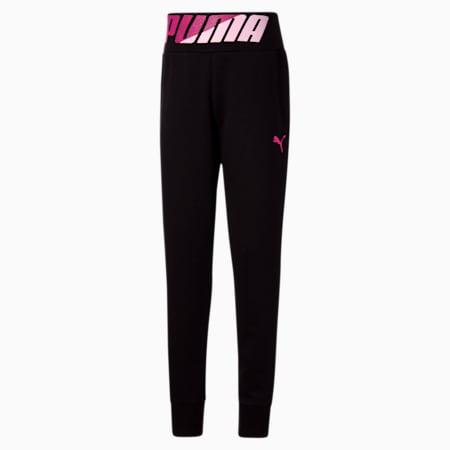 Modern Sports Girls' Fleece Joggers JR, PUMA BLACK, small