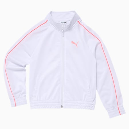 No.1 Logo Girls' Track Jacket JR, PUMA WHITE, small