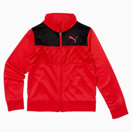 Revolve Boys' Track Jacket JR, HIGH RISK RED, small