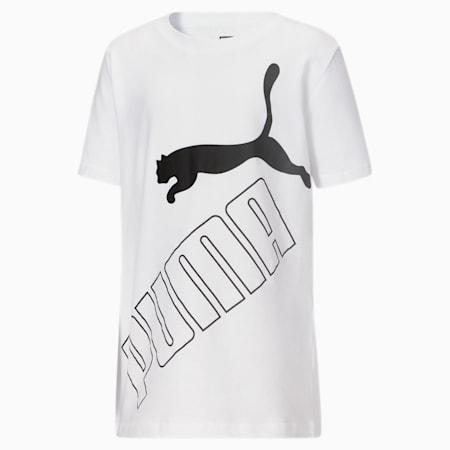 Camiseta estampada Amplified para niños JR, PUMA WHITE, pequeño