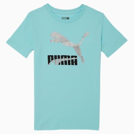 Camiseta estampada Classics para niñas pequeñas, ANGEL BLUE, pequeño