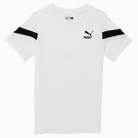 T-shirt mode Iconic MCS, jeune enfant, BLANC PUMA, petit