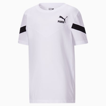 T-shirt mode Iconic MCS, garçon, enfant, BLANC PUMA, petit