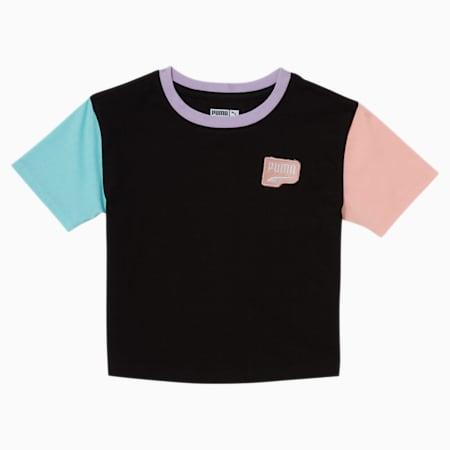 T-shirt mode Downtown, jeune enfant, NOIR PUMA, petit