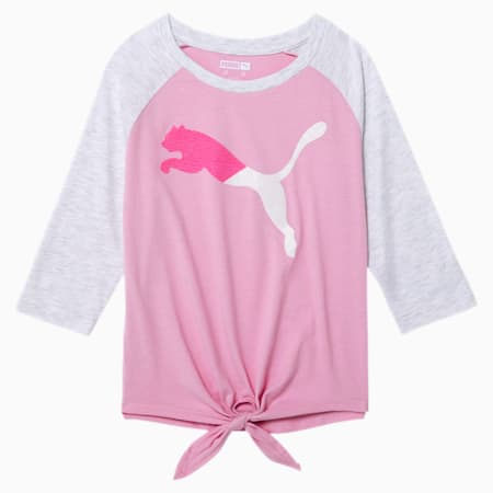 Modern Sports Girls' 3/4 Sleeve Fashion Top JR, PALE PINK, small