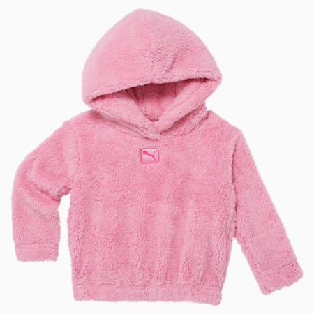 Sherpa Toddler Hoodie, PALE PINK, small