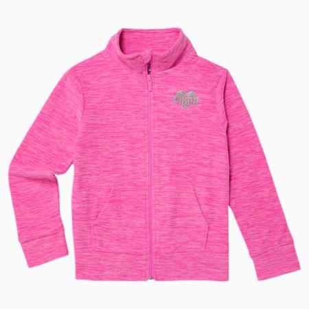 Polar Fleece Girls' Zip Up Jacket JR, LUMINOUS PINK, small