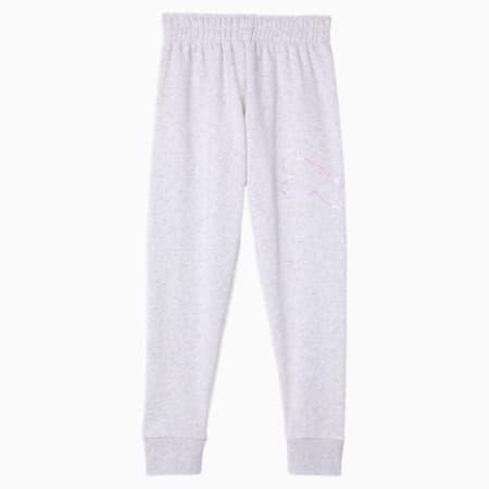 Essentials Girls' Fleece Joggers JR, WHITE HEATHER, small