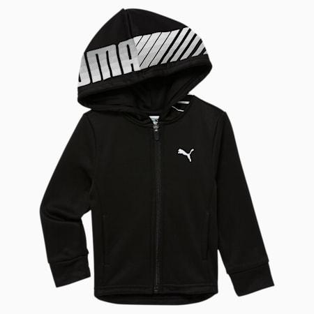 Collective Toddler Fleece Zip Up Hoodie, PUMA BLACK, small