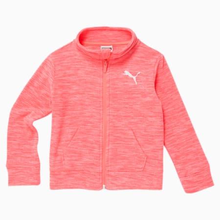 Polar Fleece Toddler Zip Up Jacket, LUMINOUS PEACH, small