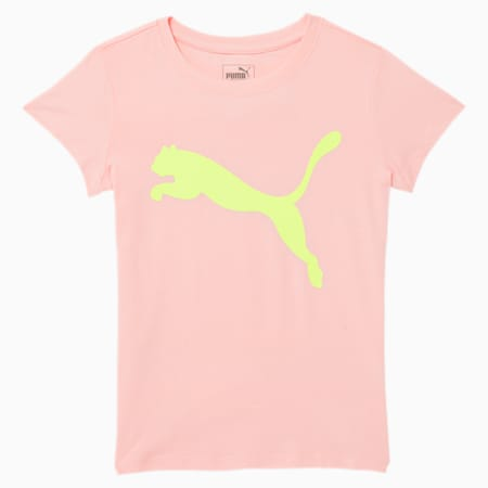 Big Cat Little Kids' Graphic Tee, CRYSTAL ROSE, small