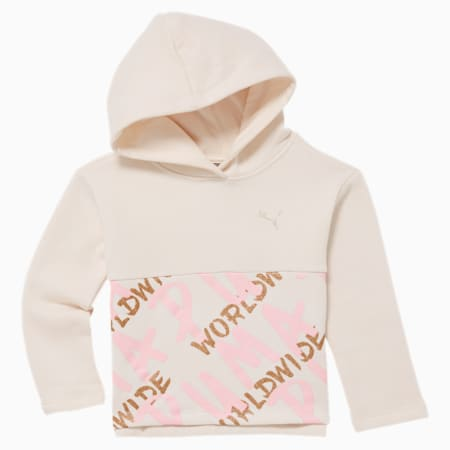 Tag Toddler Fleece Hoodie, PASTEL PARCHMENT, small