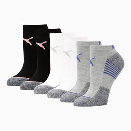 Calcetines cortos para mujer [paquete de 6], GRIS / AZUL, pequeño