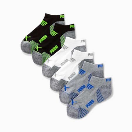 Calcetines cortos de felpa para niños (6 paquetes), GRIS / AZUL, pequeño