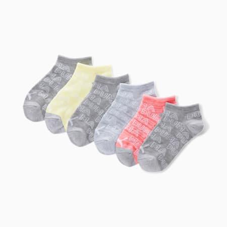 Calcetines invisibles para niñas [paquete de 6], MELOCOTÓN, pequeño