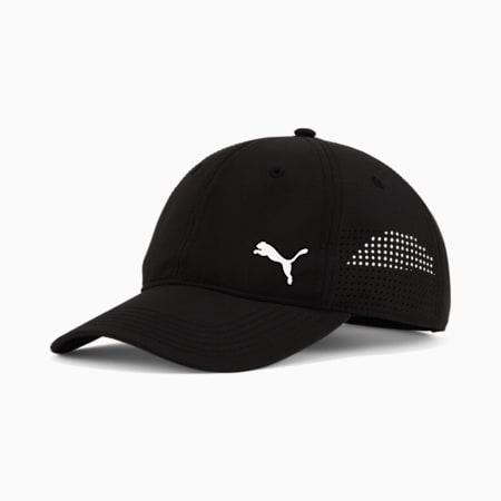 Gorra de béisbol ajustable perforada Stream, Negro, pequeño