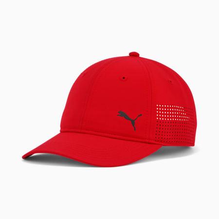 Casquette de baseball ajustable perforée Stream, Rouge, petit