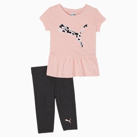 Conjunto de leggingscapri y camiseta, PEACH SKIN, pequeño