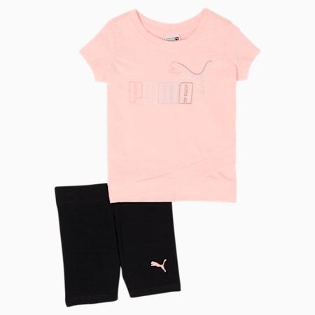 Conjunto de camiseta y shorts tipo ciclista para bebé, ELEKTRO PEACH, pequeño