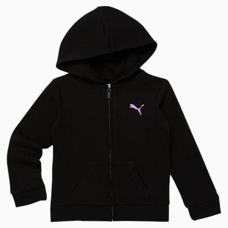 Essentials Little Kids' Fleece Zip Up Hoodie, PUMA BLACK, small