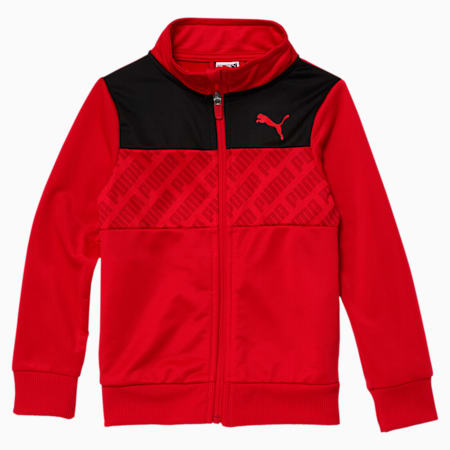 Revolve Little Kids' Track Jacket, HIGH RISK RED, small