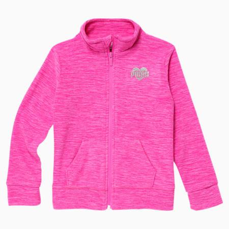 Polar Fleece Little Kids' Zip Up Jacket, LUMINOUS PINK, small