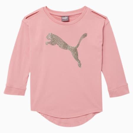 Tag Little Kids' 3/4 Sleeve Tee, BRIDAL ROSE, small