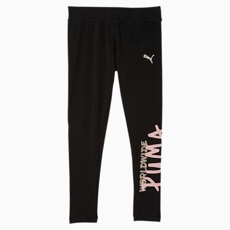 Tag Little Kids' Fashion Leggings, PUMA BLACK, small